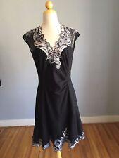 Karen Millen (UK16/US12) Black Signature Embroidered Cutwork Dress DT265