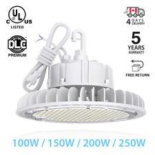 UFO 100W 150W 200W 250W  High Bay LED Warehouse fixture factory shop lighting UL