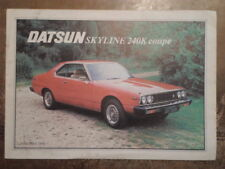 DATSUN SKYLINE 240K COUPE orig 1979 UK Mkt Sales Brochure - Nissan