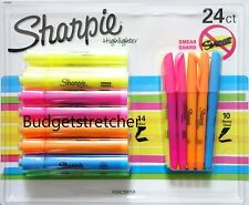 SHARPIE Highlighter 24 pack various colours (14 chisel + 10 narrow chisel) BNIB