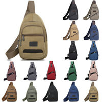Mens Crossbody Sports Handbag Canvas Chest Pack Shoulder Messenger Sling Bags US