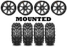 Kit 4 Interco Swamp Lite Tires 25x8-12/25x10-12 on STI HD4 Gloss Black IRS
