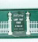 Department 56 Lamp Post & Fence 10 pc set Snow Village Accessory 5506~9 NIB