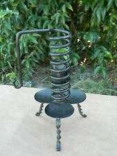 COURTING CANDLE Antiqued Black Candleholder Primitive Colonial Country