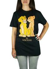 Disney The Lion King Simba And Nala Women's/Ladies Black T-Shirt