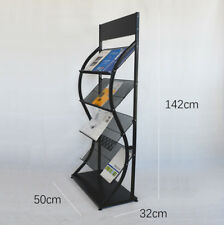 NEW Multi-Layers Magazine Stands Brochure Holder Rack Wheels Display Office Home