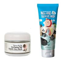 Ship by USPS - Elizavecca Carbonated Bubble Clay Mask + Hell-Pore Clean Up Mask