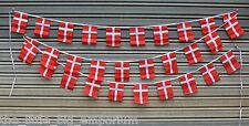 Denmark 30 Flags 9 Metres Long String Flag Banner String Bunting Danish
