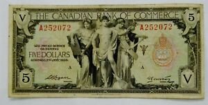 1935 Canadian Bank of Commerce $5 Note