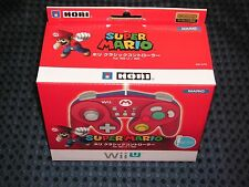 Nintendo Official Hori Classic Controller MARIO RED for Wii / U Super Smash Bros