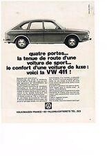 PUBLICITE  1968   VOLKSWAGEN  la VW 411