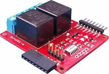 Serial & I2C Twin Stackable Relay with ADC for the Raspberry Pi, Arduino, BV4601
