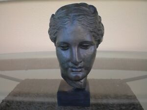 HYGIEIA -HYGEIA BUST-GODDESS OF HEALTH HEALING AND WEELBEING-BRONZE COLOR EFFECT