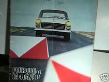 ACTION AUTO ESSAI PEUGEOT 404/8 janvier 1968