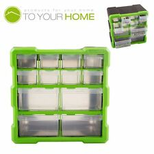 Dihl 12 Compartment Parts Storage Organiser Cabinet Screws Carry Case Tool Box