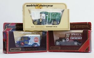 Models of Yesteryear Collection 1910 Renault, Model A Ford, Morris Cowley 1929