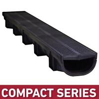Trench Channel Drain Kit Low Flow Profile Compact Landscape Drainage Outdoor