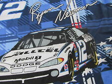 Ryan Newman cotton fabric Race catr DODGE Pensky BTHY racing half yard cut #12