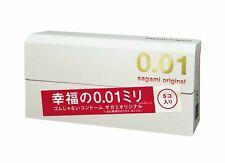 5 pcs/box Sagami Original 001 condoms Non-latex Thinnest Ultra thin 0.01 Japan