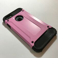 Apple iPhone 7 Case Rugged Composite Metal Design Inc Screen Protector Pink