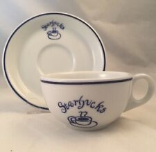 Starbucks Coffee Espresso Cup & Saucer by Rosanna Imports 1994 Blue White