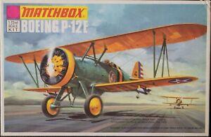 Vintage 1st edition Matchbox PK-3 1:72 scale Boeing P-12E plastic model kit
