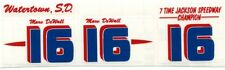 #16 Marv DeWall Mod Coupe DECAL SHEET