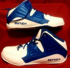 Mens AND1 Rocket 4.0 Mid Basketball Shoes ~ Sz 8.5 ~ Royal Blue/White NEW