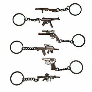 LOT OF 12 PCS METAL MACHINE GUNS KEY CHAIN NEW RIFLE SNIPER GUNS KEYRINGS 4818