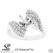 Beautiful Unique Semi Mount Engagement Ring 0.75ct Diamonds in 18k White Gold