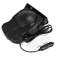 Durable 150W 12V Car Heater Fan Defroster Dashboard Cigarette Socket ABS Black