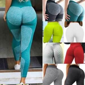 Women Seamless Leggings Yoga Pants High Waist Push Up Fitness Running Sports Gym
