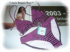 "Ultimate Swimwear-""Miami Vice""-Striped-Tie Up-Bikini Set--Size 8-BNWT-RRP $49.95"