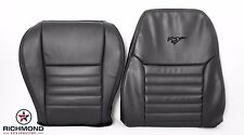 2000 2001 Mustang GT -Driver Side Complete Perforated Leather Seat Covers Black