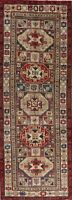 Vintage Geometric Ardebil Oriental 10 ft Runner Rug Hand-Knotted 3'x10' Carpet