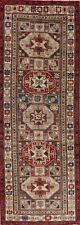 Vintage Geometric Ardebil Oriental 10 ft Runner Rug Hand-Knotted 3'x10' Carpet