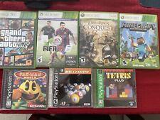 Bundle)Microsoft Xbox 360 Kinect Connect Black Sensor Bar, Games , Ps1 Games