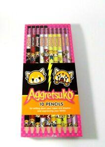 Aggretsuko Pencils by Sanrio  10 pack. HB No2