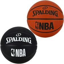 Spalding NBA Tan & Black Basketball Outdoor Rubber Official Game Ball Size 5, 7