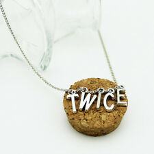 Kpop TWICE Silver Letter Necklace Momo Sana Fashion Pendant Chain ZX2059