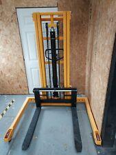 More details for manual forklift high lift pallet truck 2.5m 1000kg manual straddle stacker 2018