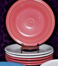 "FIESTA HLC USA ROSE FLAMINGO WHITE SALAD DESSERT PLATE 7 1/4"""