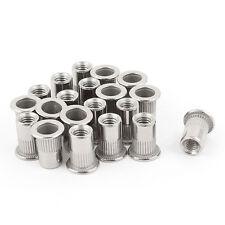 20 Pcs 304 Stainless Steel Rivet Nut Rivnut Insert Nutsert M6x15mm CR