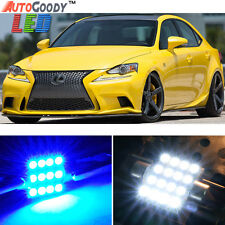 14 x Premium Blue LED Lights Interior Package Lexus IS 200t 250 350 300 + Tool