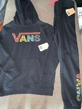 NWT Big Kid's 8-14yrs Vans Flannel Pullover Hoodie & Pants Set Sz M-XL $100