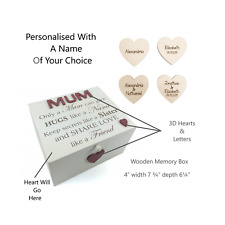 Personalised Memory Box Wooden Keepsakes Chest Only A Mum Cream Mothers Day