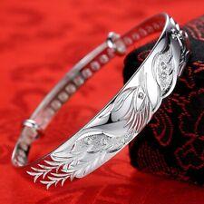 Vintage Handmade 925 Sterling Silver Phoenix Bracelet Hand Bangle