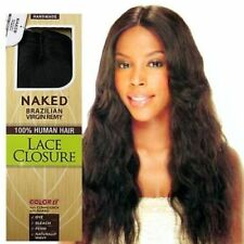 """SAGA NAKED BRAZILIAN UNPROCESSED VIRGIN REMY LACE INVISIBLE PART CLOSURE 15"""""""