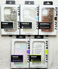 """Case-Mate Clear - Karat -Twinkle - Waterfall Case for iPhone 11 Pro 5.8"""" NEW XS"""