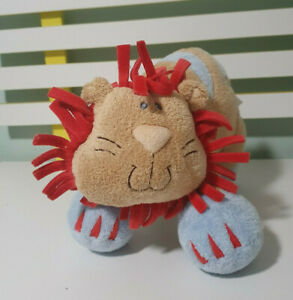 BABY GUND WOODLES RUMBA LION PLUSH TOY GUND STUFFED ANIMAL 27CM LONG 20CM TALL